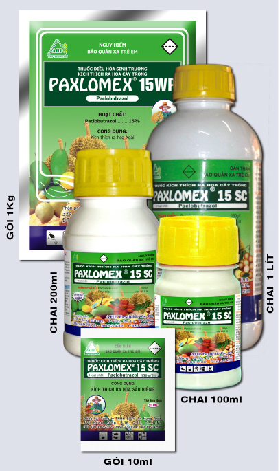 Thuốc xử lý ra hoa xoài, sầu riêng PAXLOMEX 15SC-15WP