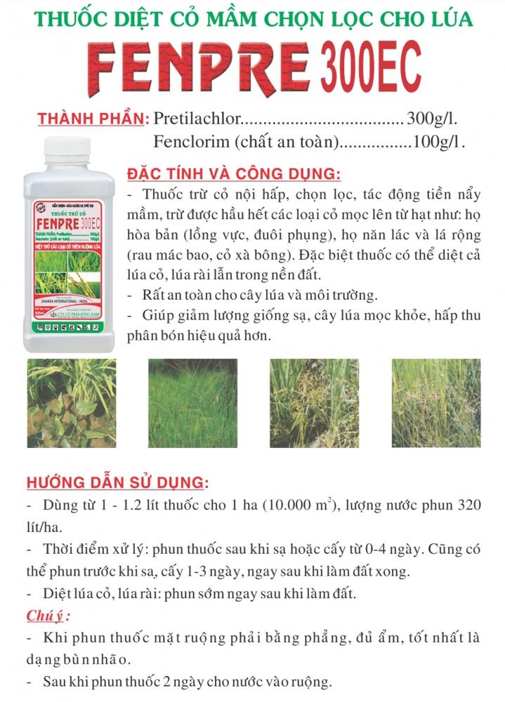 Thuốc cỏ lúa tiền nẩy mầm Fenpre 300EC