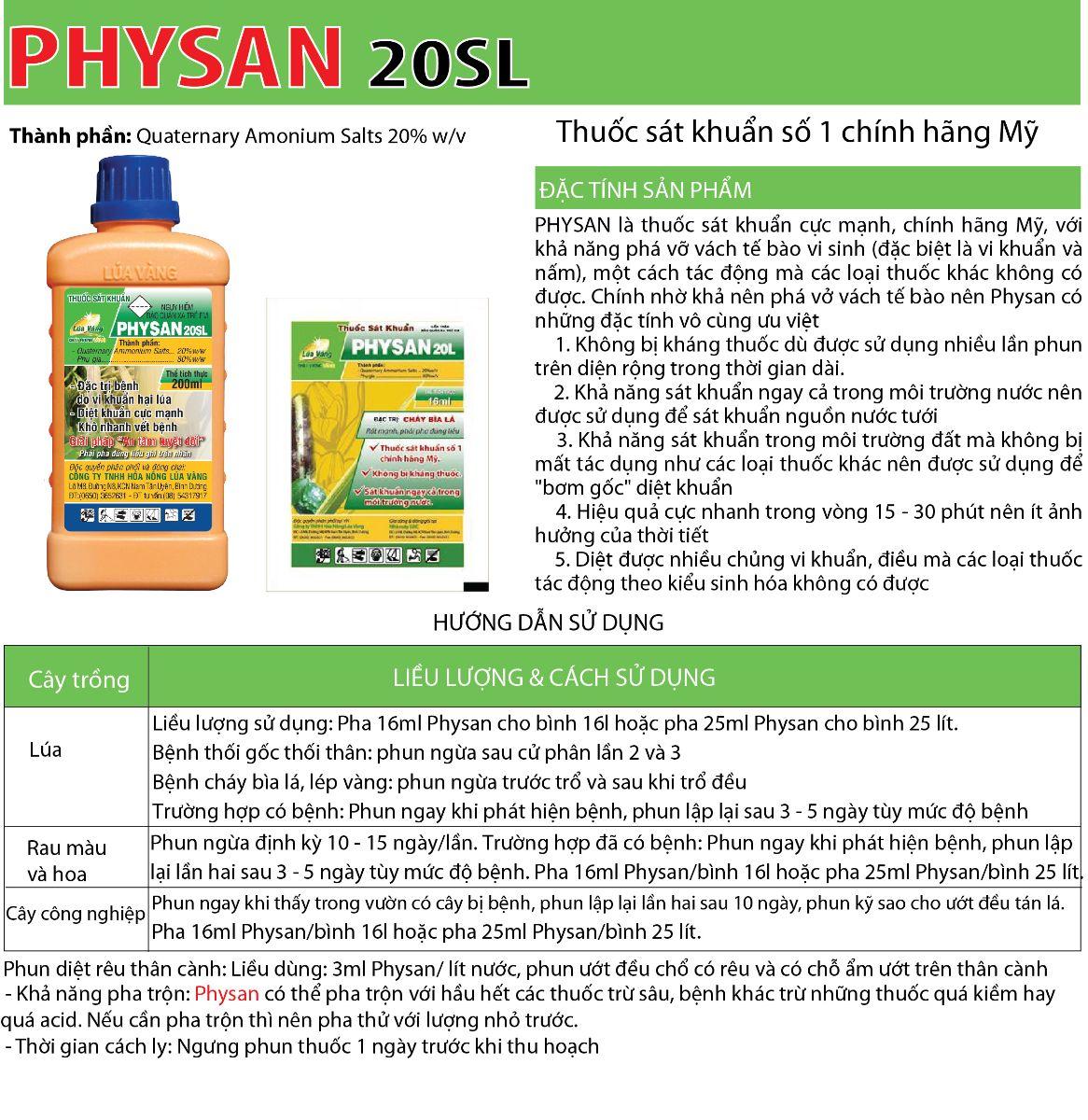 Thuốc sát khuẩn Physan 20SL