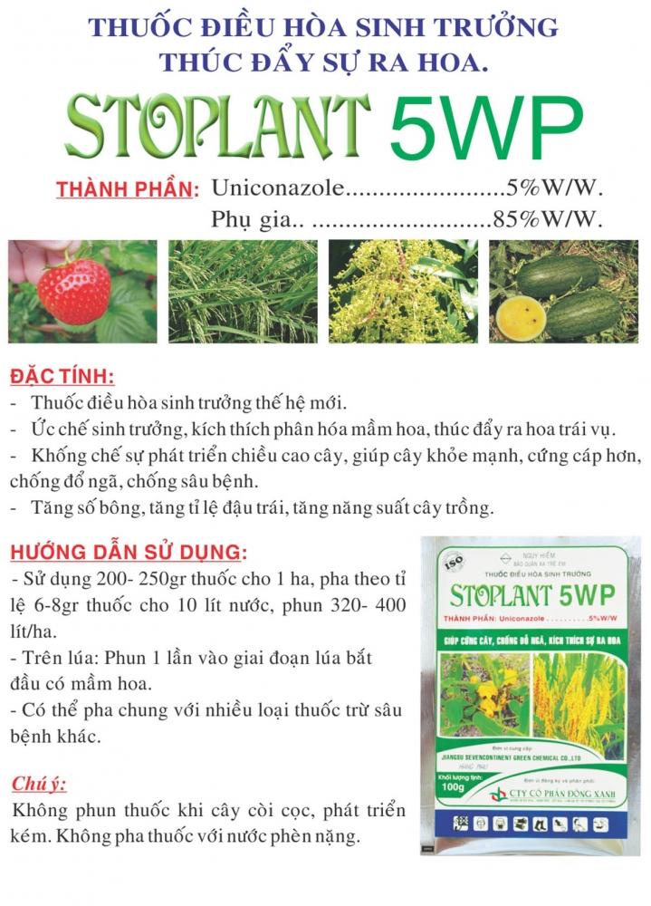 Thuốc điều hòa sinh trưởng, thúc đẩy sự ra hoa STOPLANT 5WP
