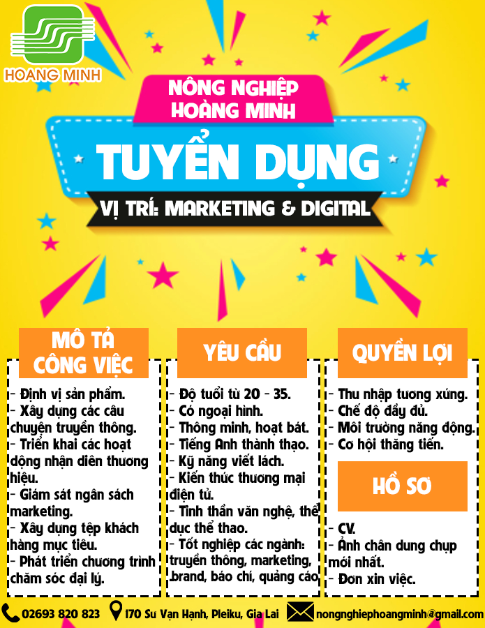 TUYỂN DỤNG MARKETING & DIGITAL