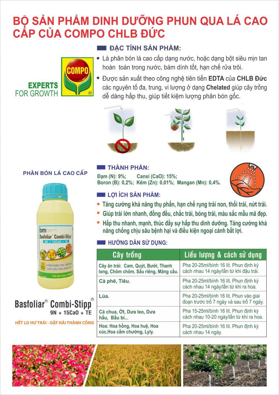 BASFOLIAR COMBI – STIPP 9N – 15CaO + TE