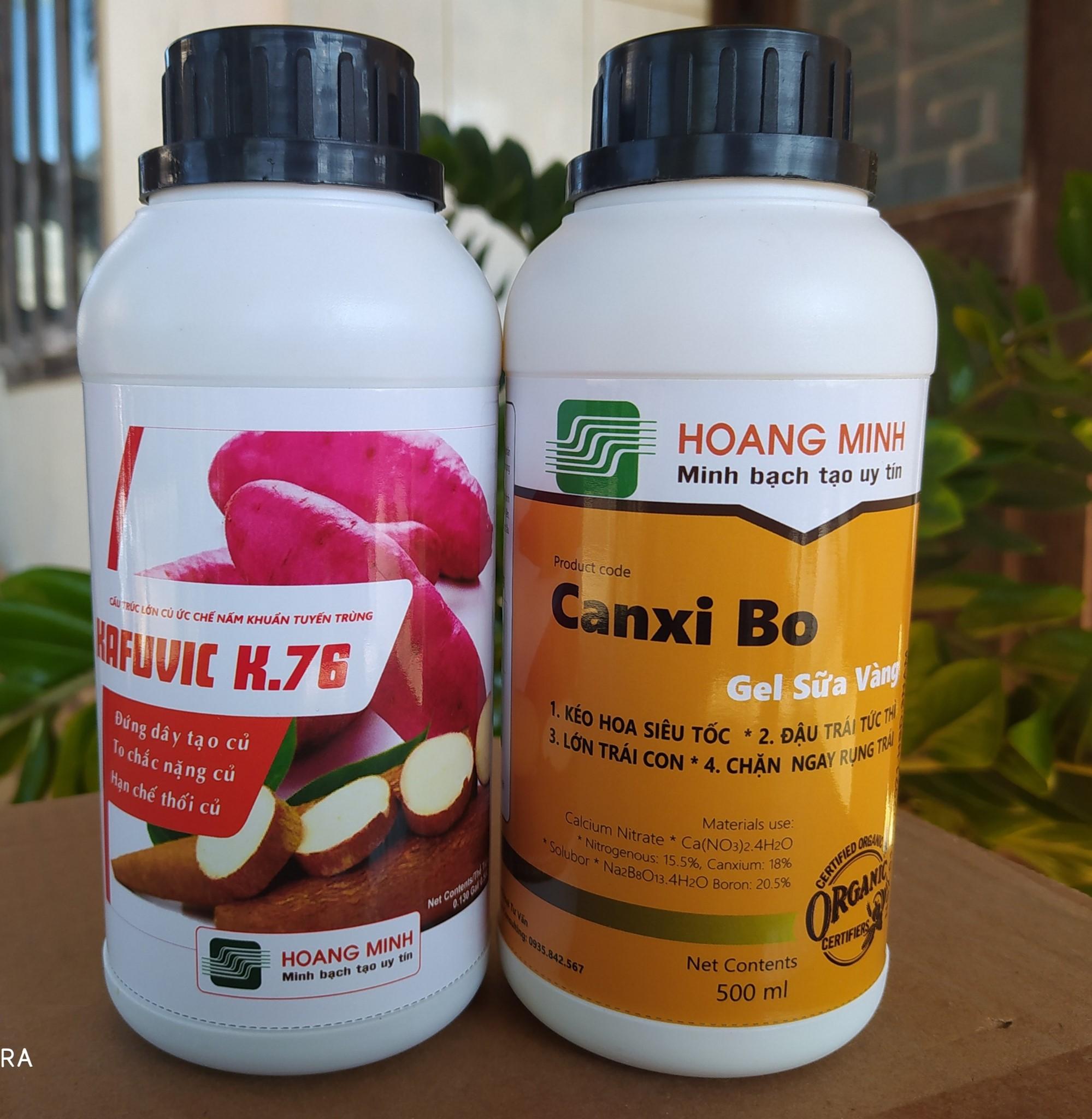 K76 + Canxibo Gel Sữa Vàng (cặp đôi To Bóng)