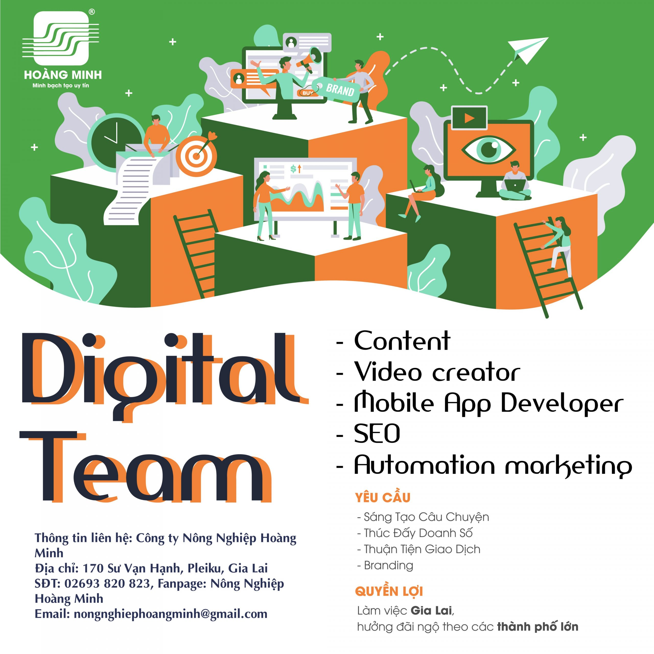 Tuyển dụng digital marketing team